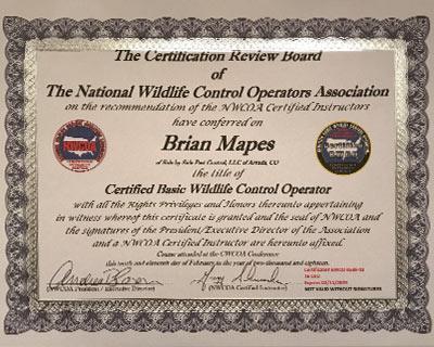 NCWOA Certification