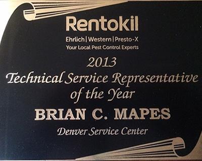 Rentokil 2013 Representative of the Year
